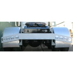Stainless Steel Rear Bumper Light Bar With Angled Ends