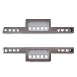 Aluminum Rear T Bumper With 13 - 4 Inch Round Light Hole Cutouts