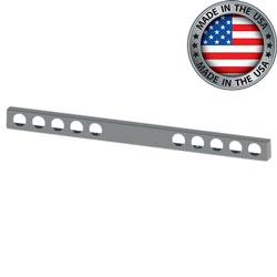 96 Inch 304 Stainless Steel Rear Light Bar With 10 Light Hole Cutouts