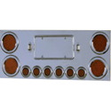 Stainless Steel Center LED Light Bar With Red Lens LEDs
