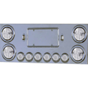 Stainless Steel Center LED Light Bar with Clear Lens LEDs