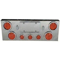 Stainless Steel Center Light Panel With 7 Lights