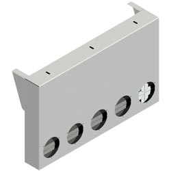 20 Inch Aluminum Rear Center Panel With 5 - 4 Inch Light Hole Cutouts