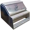 30 X 24 X 29 Inch Big Mouth Smooth Aluminum Step Box With Diamond Plate Lid