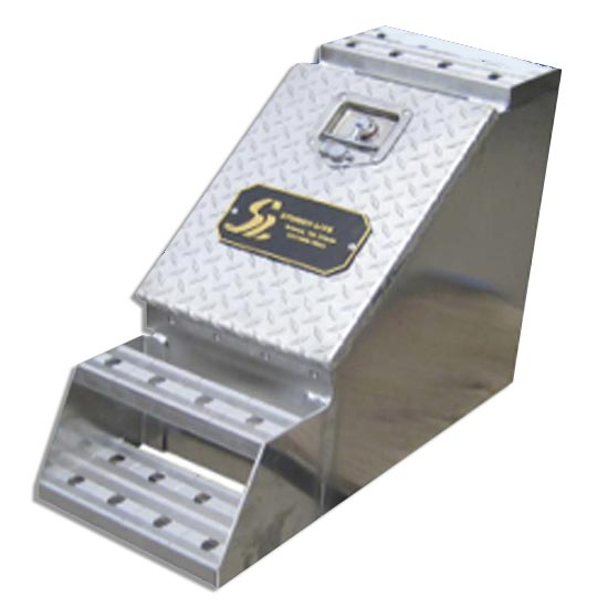 Aluminum 12 Inch Step Box With Diamond Plate Door 4