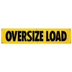 18 X 84 Inch Heavy Duty Oversize Load Sign