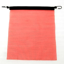 18 X 18 Inch Red Mesh Flag With Bungee Cord