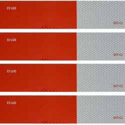 DOT-C2 Conspicuity Reflective Tape Red & White 18 Inch X 2 Inch