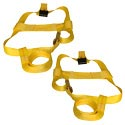Yellow Adjustable Wheel Tie Down Strap
