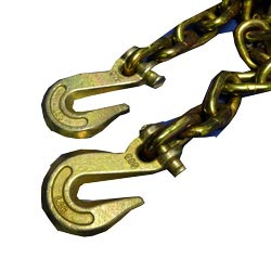 Grade 70 3/8 Inch Chain With Hooks 20 Feet