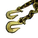 3/8 Inch X 20 Foot Grade 70 Chain With Hooks