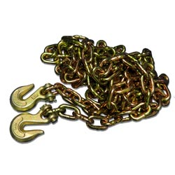 Grade 70 Chain With Hooks 25 Foot X 5/16 Inch