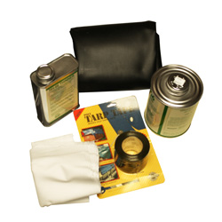 Black Vinyl Tarp Repair Kit