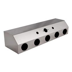 Stainless Steel Air Line Box w/ 5 2in Round Holes