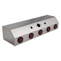 Stainless Steel Air Line Box With 5 - 2 Inch Red LED Lights