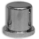 Chrome Plastic Tophat Nutcover with Flange 1-1/8 Inch & 1-1/16 Inch