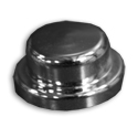 Chrome Plastic Top Hat Nut Cover With Flange 3/8 Inch & 10MM Bolt Heads