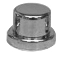 Chrome Plastic 1/2 In or 13 MM Tophat Style Nut Cover