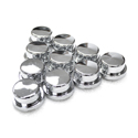 Chrome 3/4 Inch Short Top Hat Nut Covers