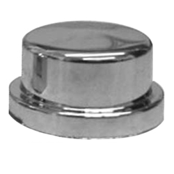 Chrome Plastic 3/4 In Short Nut Cover for Bumper Bolts