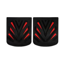 24 X 30 Inch Black & Red Fiberglass-Reinforced Rubber Mud Flap (Pair)