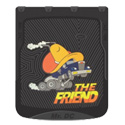 Black with Truck The Friend Design Mudflap