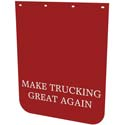 24 X 30 Inch Red Poly Make Trucking Great Again Mud Flaps
