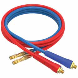 12 Foot Rubber Air Line Set With Flexible Red/Blue Grips