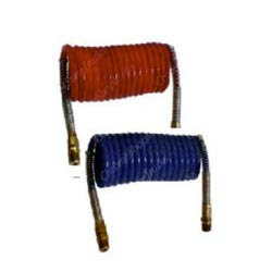 Coiled Air Hose Set - Red/Blue - 15 Feet With 12 Inch Leads