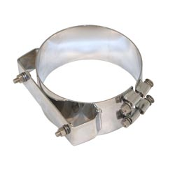 8 Inch Chrome-Plated Stainless Steel Universal Exhaust Mounting Clamp