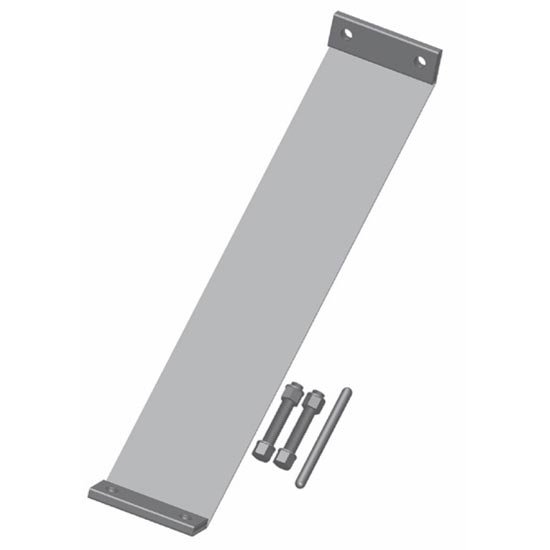 In stainless steel flat band clamp non polished