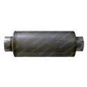 Galvanized Exhaust Muffler 9in x 26.5in - 5in Inlet & Outlet