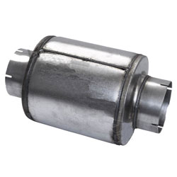 Galvanized Steel Exhaust Resonator 5 Inch Inlet With 9 Inch Body