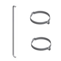 7 X 21 Inch Chrome Exhaust Grab Handle Kit