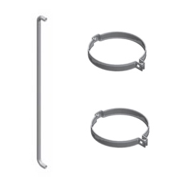 6 X 48 Inch Chrome Plated Stainless Steel Exhaust Grab Handle Kits