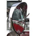 8 In Chrome Plastic Convex Mirror Visor