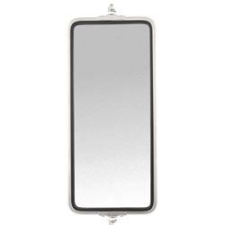 Stainless Steel Heated West Coast Mirror 7 X 16 With Amber LED Light