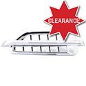 Chrome Plastic Louvered Hood Vent Accent