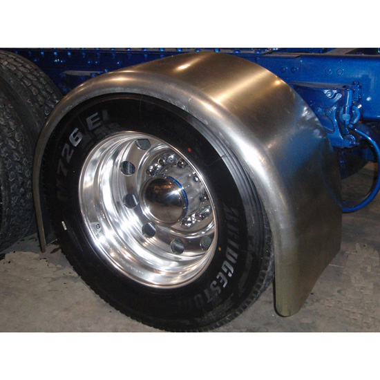 Aluminum Truck Fenders : Aluminum full radius long drop fender state trucks