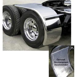 80 Inch Rollin'Lo Long Stainless Steel Half Fender With Rolled Edge (Pair)