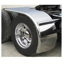 Stainless Steel 22.5 Inch Rollin Lo Fenders Low Pro Tires