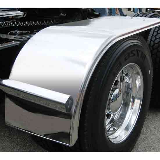 66 Inch 430 Stainless Steel Standard Half Fender With Rolled Edge & Flange (Pair)