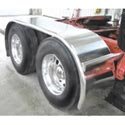 142 Inch Stainless Steel The Boss Long Drop Full Fender With Rolled Edge (Pair)
