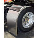 38 Inch Stainless Steel Super Long Low Rider Straight Drop Quarter Fender With Rolled Edge (Pair)