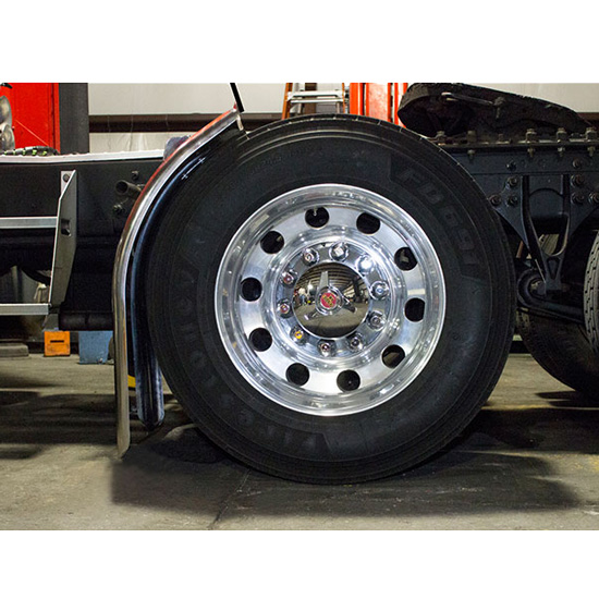 For A Semi Tractor Fenders : Stainless steel quarter fender inch state trucks