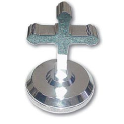 Chrome Aluminum Cross Hood Ornament