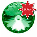 Chrome CB Channel Knob with Green Jewel