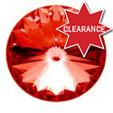 Chrome CB Channel Knob with Red Jewel