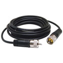 Black 9 Foot CB Antenna Coax Cable With PL-259 Connectors
