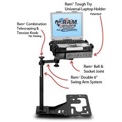RAM This-Is-No-Drill Laptop Stand System